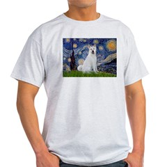 Starry Night - Akita 2 T-Shirt