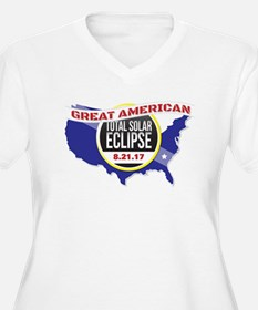 2017 Solar Eclipse Plus Size T-Shirt