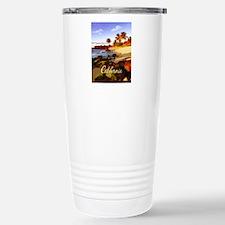Palms, Beach, Rocks Oc Stainless Steel Travel Mug