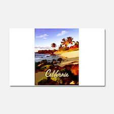 Palms, Beach, Rocks Ocean at S Car Magnet 20 x 12