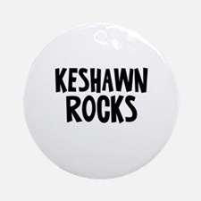 Keshawn Rocks Ornament (Round)
