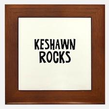 Keshawn Rocks Framed Tile