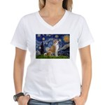 Starry - Akita3 Women's V-Neck T-Shirt