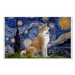Starry - Akita3 Sticker (Rectangle)