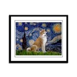 Starry - Akita3 Framed Panel Print