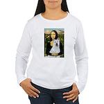 MonaLisa-AKita2 Women's Long Sleeve T-Shirt