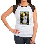 MonaLisa-AKita2 Women's Cap Sleeve T-Shirt