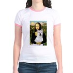 MonaLisa-AKita2 Jr. Ringer T-Shirt