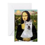 MonaLisa-AKita2 Greeting Cards (Pk of 10)