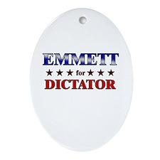 EMMETT for dictator Oval Ornament