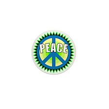 Green Peace Sign Mini Button
