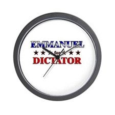 EMMANUEL for dictator Wall Clock