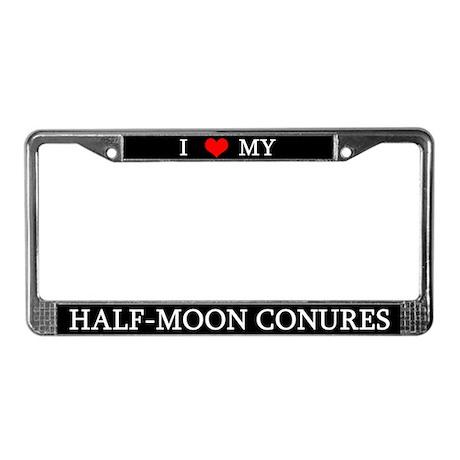 Love Half Moon Conures License Plate Frame