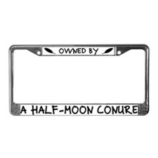 Owned by a Half-Moon Conure License Plate Frame