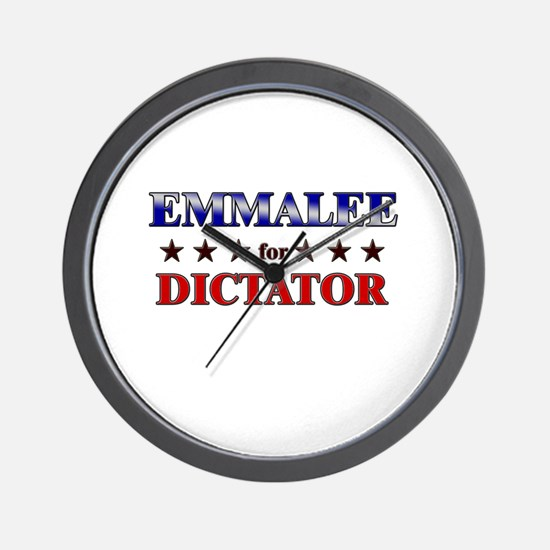 EMMALEE for dictator Wall Clock