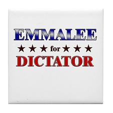 EMMALEE for dictator Tile Coaster