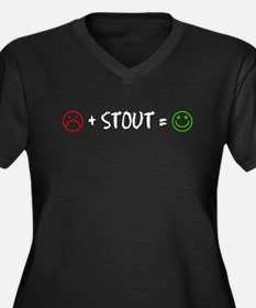 Plus Stout Happy Plus Size T-Shirt