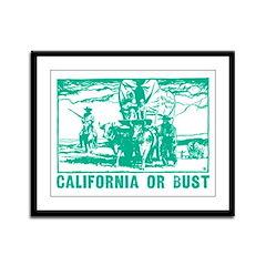 California Or Bust Framed Panel Print