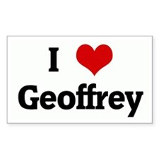 I Love Geoffrey Rectangle Decal