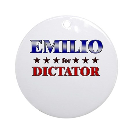 EMILIO for dictator Ornament (Round)
