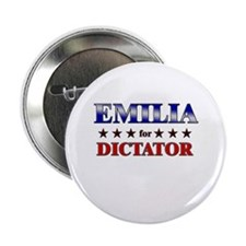 "EMILIA for dictator 2.25"" Button"