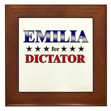 EMILIA for dictator Framed Tile