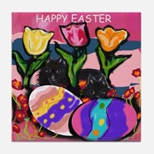 Schipperke Easter Tile Coaster