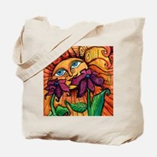 Sunshine Summer with Flowers Tote Bag