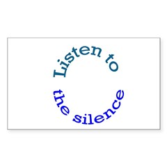 Listen to the Silence Rectangle Decal