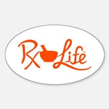 Orange Rx Life Sticker (Oval)