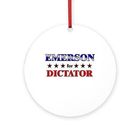 EMERSON for dictator Ornament (Round)