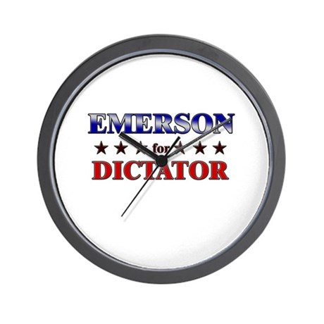 EMERSON for dictator Wall Clock