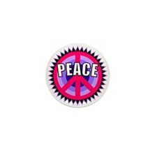 Pink Peace Sign Mini Button
