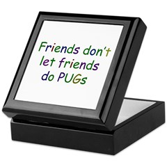 Friends and PUGs Keepsake Box