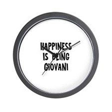 Happiness is being Giovani  Wall Clock