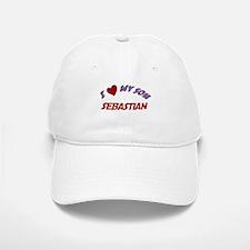 I Love My Son Sebastian Baseball Baseball Cap