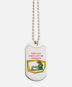 Girl scientist Dog Tags