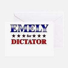 EMELY for dictator Greeting Card