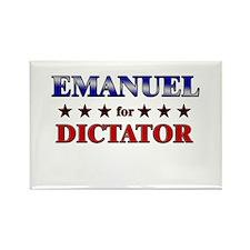 EMANUEL for dictator Rectangle Magnet