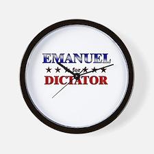 EMANUEL for dictator Wall Clock
