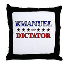 EMANUEL for dictator Throw Pillow