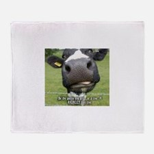 Queen cow Throw Blanket