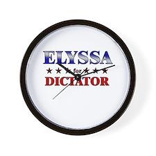 ELYSSA for dictator Wall Clock