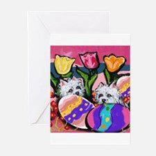 WESTIE Easter Design Greeting Cards (Pk of 10)