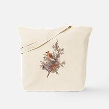 Cedar Waxwing Birds Tote Bag