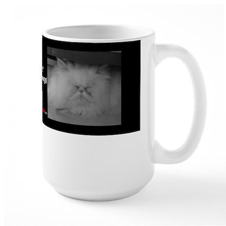 Large Mug - I don't do mornings Cat Mug