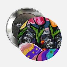 SCHNAUZER Easter Egg Design Button