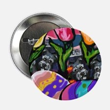 "SCHNAUZER Easter Egg Design 2.25"" Button (100 pack"