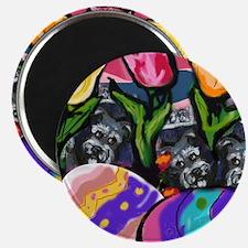 SCHNAUZER Easter Egg Design Magnet