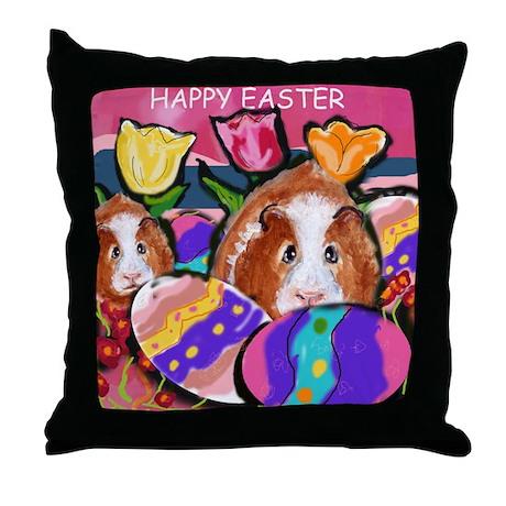 GUINEA PIG Easter Design Throw Pillow